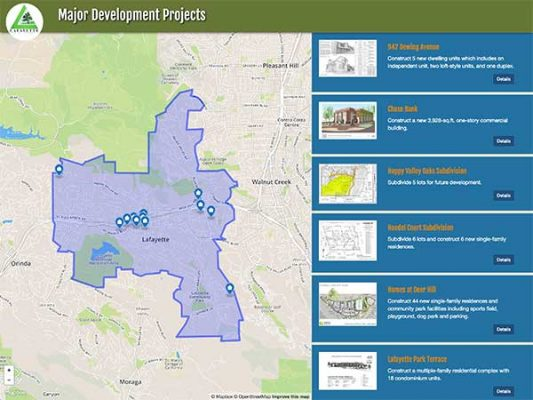 Lafayette Major Development Projects ProjectExplorer Main Landing Page