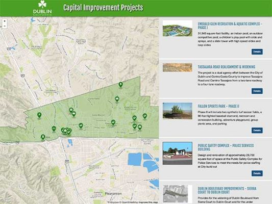 Dublin Capital Improvement Projects ProjectExplorer Main Landing Page