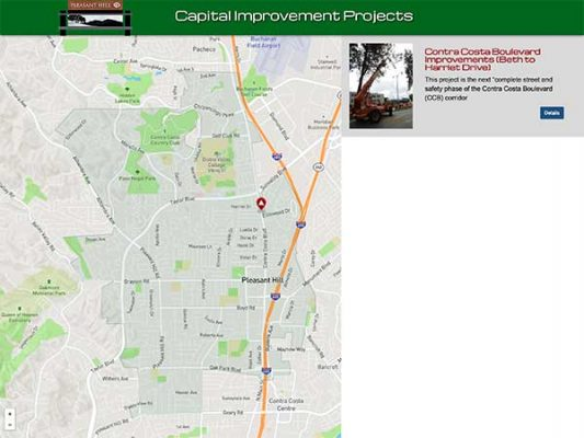 Pleasant Hill Capital Improvement Projects ProjectExplorer Main Landing Page