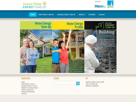 Central Valley Energy Tune-Up Main Landing Page