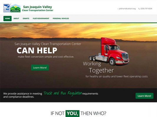 San Joaquin Valley Clean Transportation Center Main Landing Page