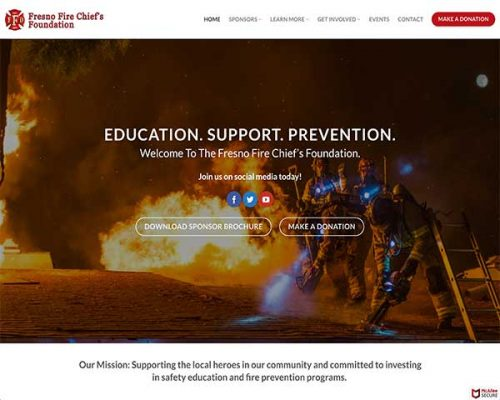 Fresno Fire Chief's Foundation Landing Page